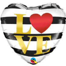 "LOVE Horizontal Stripes Foil Balloon (18"") 1pc"